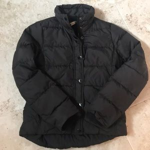 J. Crew Black Puffer Jacket XS